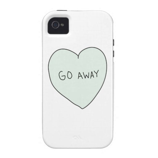 Sassy Heart: Go Away Case-Mate iPhone 4 Cases
