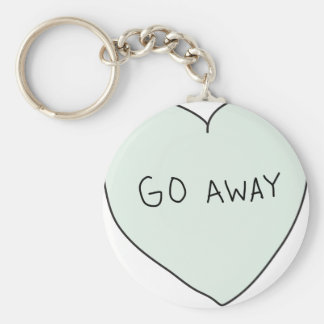 Sassy Heart Go Away Keychains