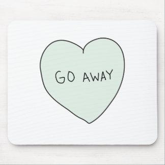 Sassy Heart Go Away Mousepads