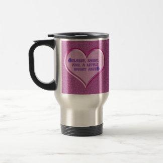Sassy Heart 15 Oz Stainless Steel Travel Mug