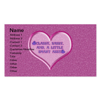 Sassy Heart Pack Of Standard Business Cards