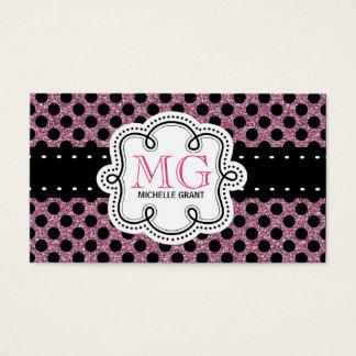 Sassy Hot Pink Glitter Look Ladies Polka Dots