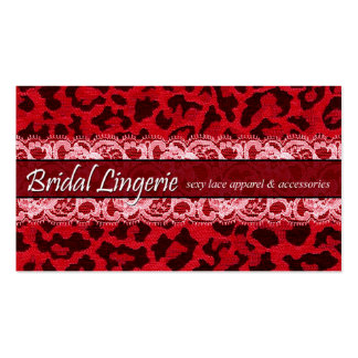 Sassy Lace Leopard Bridal Lingerie Lacy Garter Business Card Templates