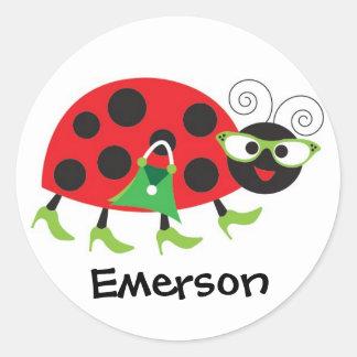 Sassy Ladybug Stickers