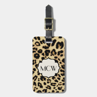 Sassy Leopard Print Monogrammed Luggage Tag