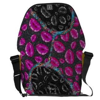 Sassy Lips Abstract Courier Bags