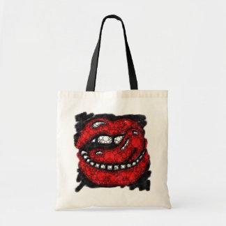 Sassy Lips Grunge Splatter Budget Tote Bag
