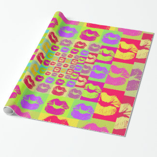 Sassy Lips POP Art Wrapping Paper