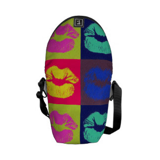 Sassy Lips Tri Colors Commuter Bag