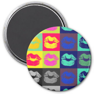 Sassy Lips Tri Colors Magnet