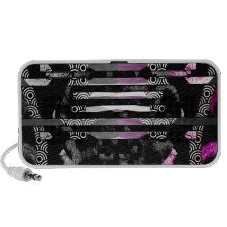 Sassy Lips Zebra Abstract Mp3 Speaker