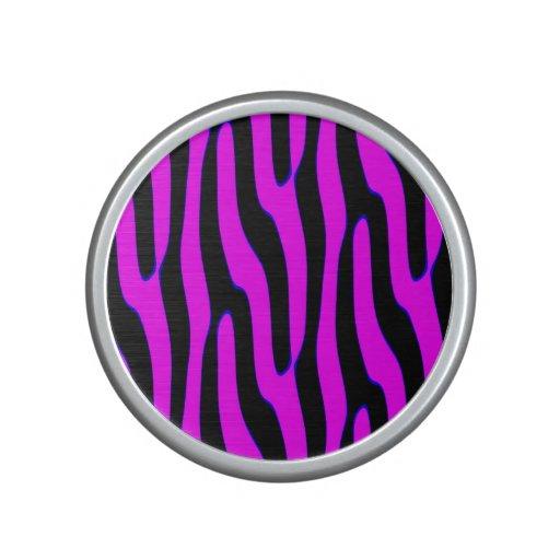 Sassy Neon Pink Wild Animal Print Bluetooth Speaker