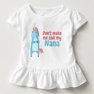 Sassy Pink and Blue Unicorn Is Warning You Toddler T-Shirt