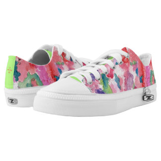Sassy Pink Floral Sneakers