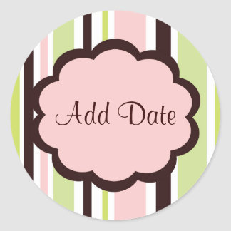 "Sassy Pink ""Save the Date"" Sticker"