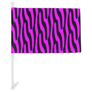 Sassy Pink Wild Animal Print Car Flag