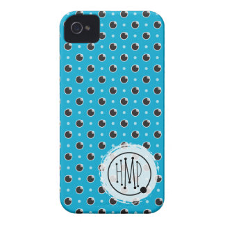 Sassy Polka Dots iPhone 4 Barely There - Aqua iPhone 4 Cases