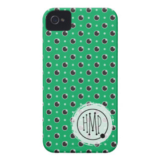 Sassy Polka Dots iPhone 4 Barely There - Green iPhone 4 Cases