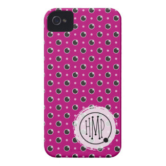 Sassy Polka Dots iPhone 4 Barely There - Purple iPhone 4 Cover