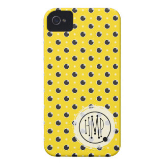 Sassy Polka Dots iPhone 4 Barely There - Yellow iPhone 4 Case