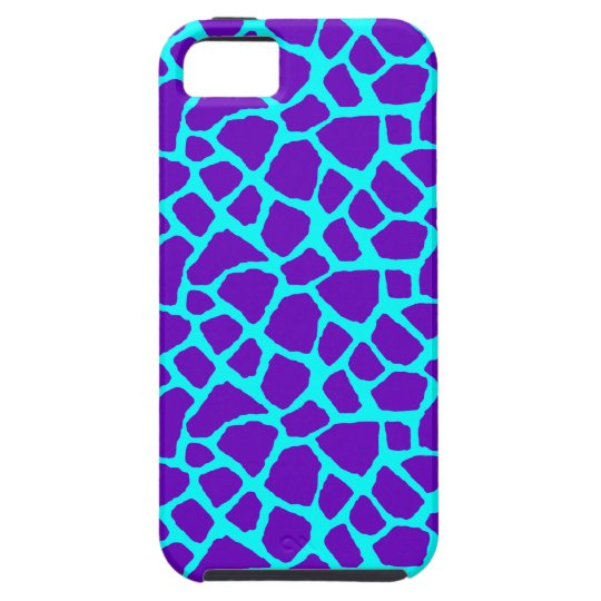 Sassy Purple Giraffe Print iPhone Case