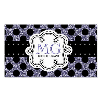 Sassy Purple Glitter Look Ladies Any Profession Business Card Templates