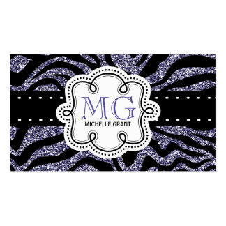 Sassy Purple Glitter Look Ladies Any Profession Pack Of Standard Business Cards