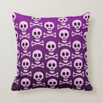 Sassy Purple Skull Cushion