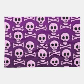 Sassy Purple Skull Tea Towels