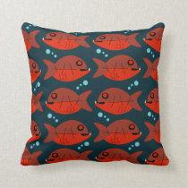 Sassy Red Fish Pattern Cushion