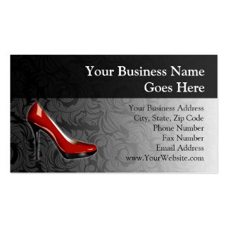 Sassy Red Shoe Business Card Templates