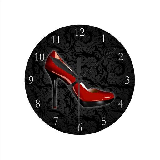 Sassy Red Shoe Wallclocks