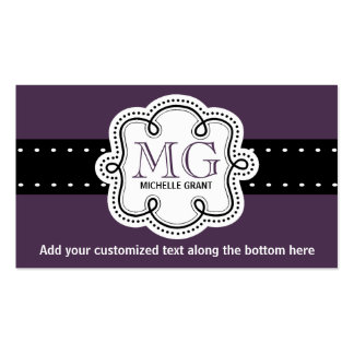 Sassy Rich Purple Ladies Any Profession Girly Business Card Templates