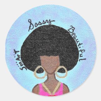 Sassy Round Sticker