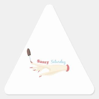 Sassy Saturday Triangle Sticker