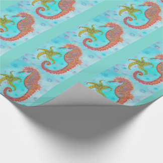 Sassy Sea Horse Wrapping Paper