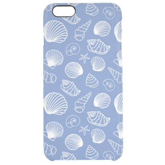 Sassy Seashell Pattern Clear iPhone 6 Plus Case