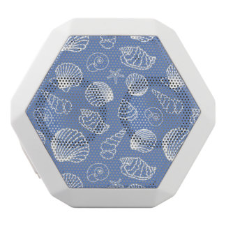 Sassy Seashell Pattern White Bluetooth Speaker