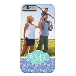 Sassy Seashell Pattern| Your Photo & Monogram Barely There iPhone 6 Case