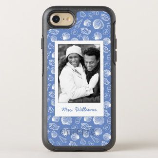 Sassy Seashell Pattern | Your Photo & Name OtterBox Symmetry iPhone 8/7 Case
