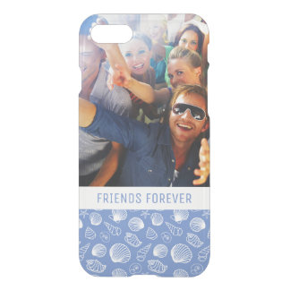 Sassy Seashell Pattern | Your Photo & Text iPhone 8/7 Case