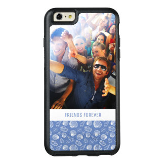 Sassy Seashell Pattern | Your Photo & Text OtterBox iPhone 6/6s Plus Case