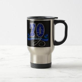 Sassy Seventy Sparkle Stainless Steel Travel Mug