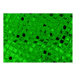Sassy Shiny Metallic Emerald Green Diamond Pack Of Chubby Business Cards