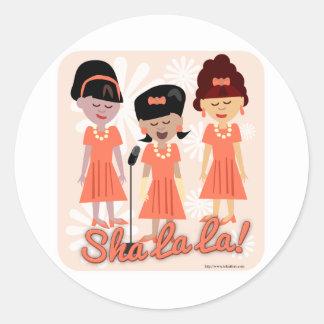 Sassy Sixties Girl Group Round Sticker