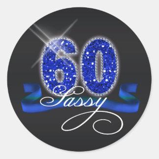 Sassy Sixty Sparkle Round Sticker