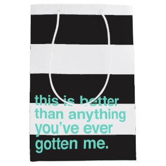 Sassy Striped Gift Bag - Better Than