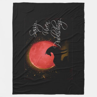 "Sassy Vixen Logo Custom Fleece Blanket, 60""x80"""