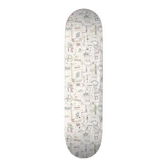 Sassy-Whimsical Pattern Print Custom Skate Board