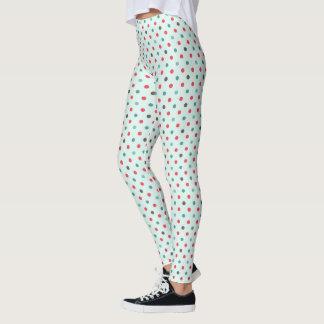 Sassy Winter Polka Dots Leggings